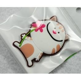 Magnet chat avec fleur