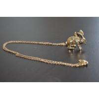 Collier pendentif lapin